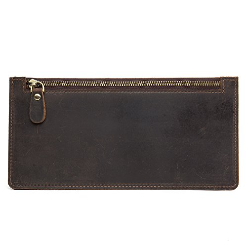 Price comparison product image Leather Coin Purse Credit Card Wallet Slim Zip Money Bag For Men Women - WESTBRONCO