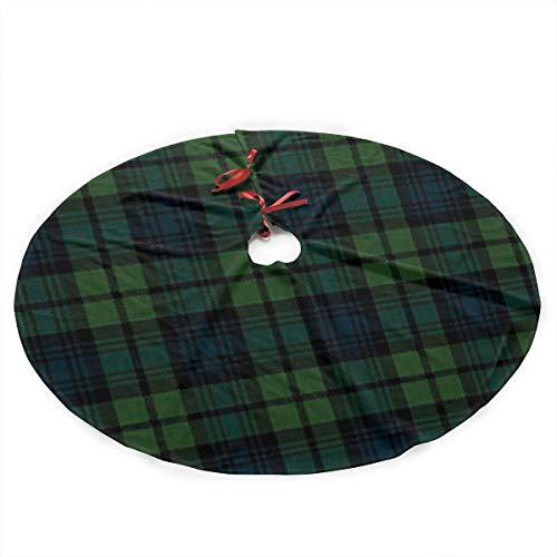 Fengyaojianzhu Scottish Tartan Plaid Christmas Tree Skirt Mat Decoration Christmas Party Floor Christmas Ornaments Holiday Parties are Beautifully