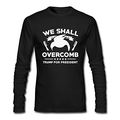 - M Bert Pandora Mens We Shall Overcomb Trump For President Funny Tshirts