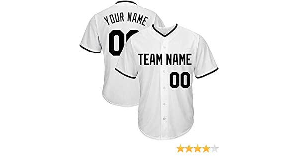 063c5a0c0acc7 Custom Baseball Jerseys - Custom Your Own/Team Mesh Jerseys with  Embroidered Team Name, Numbers for Men - Absorbent, Ventilate.