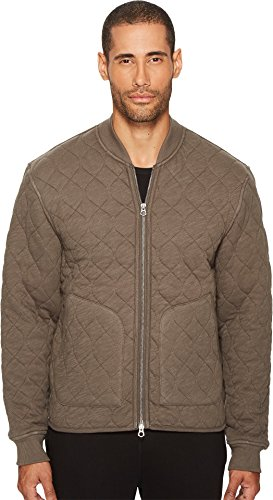 feb9ab13f3f64 Todd Snyder + Champion Men's Quilted Bomber, Thyme, Medium