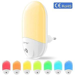Veilleuse Enfant LED LOFTer Veilleuse Prise Electrique Multicouleur Automatique Plug-And-Play Veilleuse Secteur Avec Capteur Crépusculaire (1 pièce) 5
