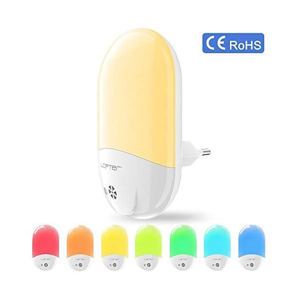 Veilleuse Enfant LED LOFTer Veilleuse Prise Electrique Multicouleur Automatique Plug-And-Play Veilleuse Secteur Avec Capteur Crépusculaire (1 pièce) 1