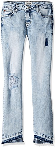 HUDSON Girls' Big Skinny Crop Pant, Iceberg wash, 12]()