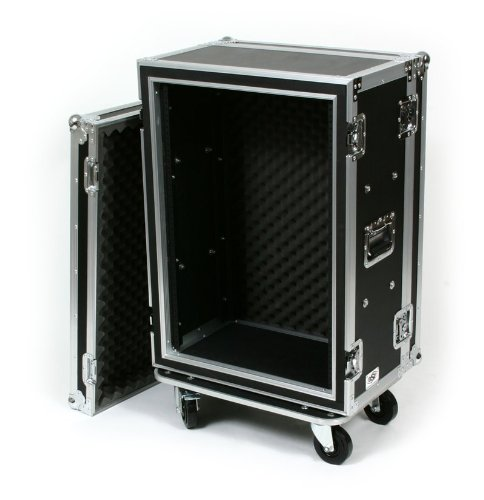 "16 Space (16U) ATA Rack Effects Road Shock Mount Case (12"" Deep) - Also For Wireless Systems"