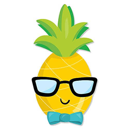 Cute Happy Pineapple Boy Head with Glasses Kitchen Stand Mixer Appliance Decal Front/Back Vinyl Decal Set - Full ()