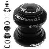 Venzo 1-1/8'' Threadless Mountain Bike Headset Sealed Black
