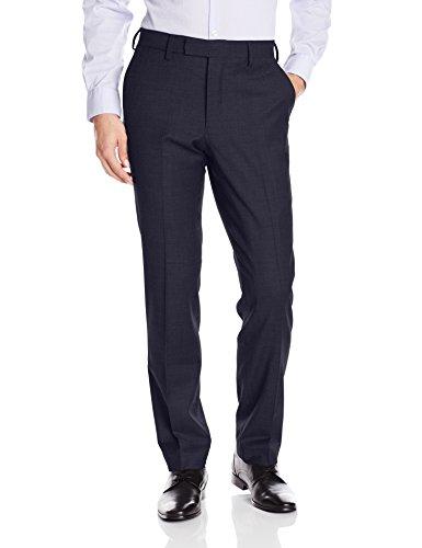 - Louis Raphael LUXE Men's Slim Fit Flat Front Stretch Wool Blend Dress Pant, Navy, 30W x 30L