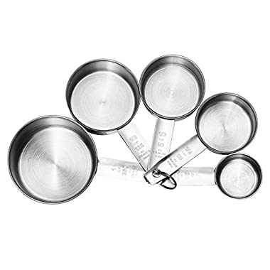 Accmor 5-Piece Stainless Steel Measuring Cups/Spoons Set - Premium Stackable Tablespoons Measuring Set for Dry and Liquid Ingredients - Prefect for Cooking or Baking