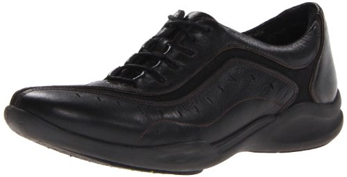 Clarks Women's Wave.Wheel Oxford,Black Leather,6 B US by CLARKS