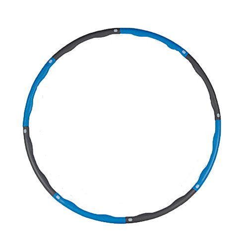 Hula Hoop - Heavy Fitness Hoop Weight Loss Workout Equipment , Easy to Use Exercise Hoop - Fun, Easy Way to Workout - Dance, Twist, Stretch, & Sweat (Blue)