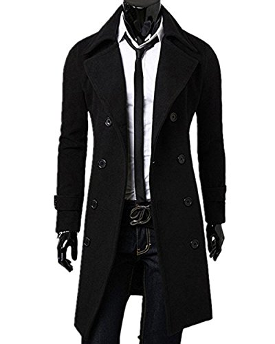 Huiyuzhi-Mens-Long-Double-Breasted-Overcoat-Trench-Coat