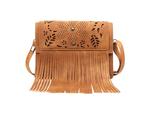 (Crossbody Bags Portable Small Mini Purse Wallet Cell Phone for women Fringe Bag)
