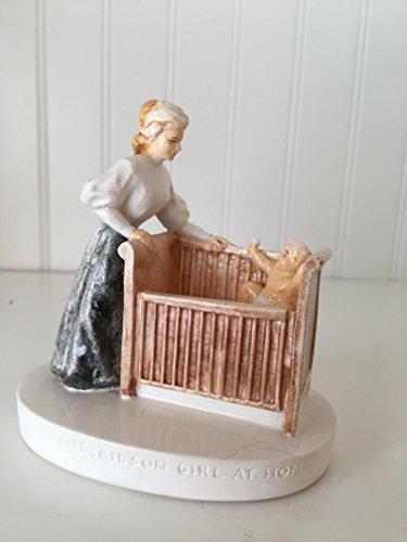 Sebastian Miniatures Figurine # 6304 The Nineties Gibson Girl At Home