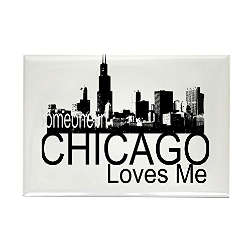 CafePress Someone In Chicago Loves Me S Rectangle Magnet, 2