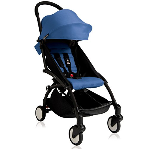 BabyZen 2016 Yoyo+ Stroller-Black Frame (Blue)