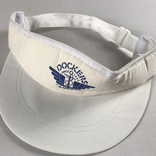 Designer Award Headwear Docker Levis Visor Vintage Hat Cap Foam Front White Blue Adult One Size Golf Boat