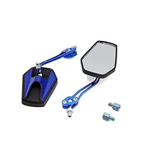 Amazon.com: eDealMax Par Azul Ajustable Hexagonal lateral del Espejo retrovisor de la Moto de: Automotive