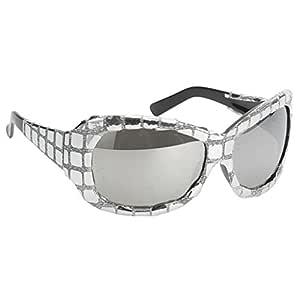 Shiny Retro Fashion Silver Sequins Sunglasses Gafas Fiesta ...