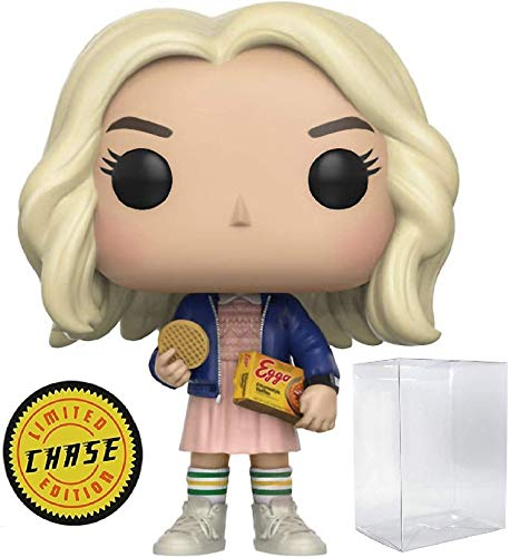 Funko Stranger Things - Eleven in Wig with Eggos Limited Edition Chase Pop! Vinyl Figure Vinyl Figure (Includes Compatible Pop Box Protector Case)