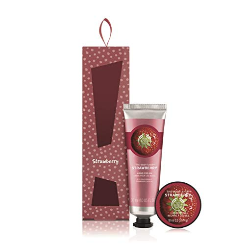- The Body Shop Strawberry Soft Hands Warm Kisses Duo Gift Set