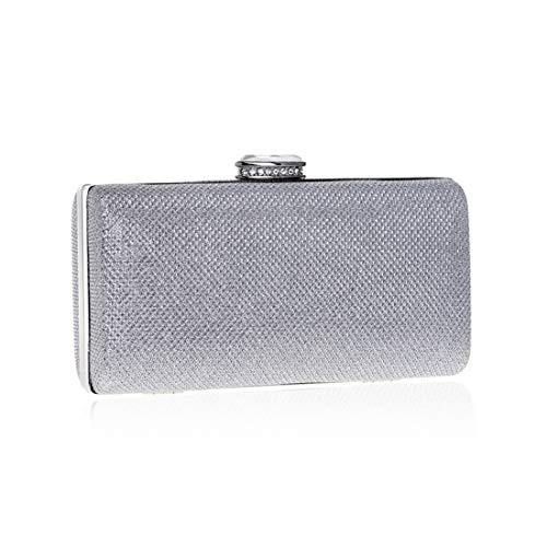 Evening Evening Bag Evening Fly Colore Dress Sequin Bag Clutch Ladies Argento Dress Argento Fashion a5wUqT