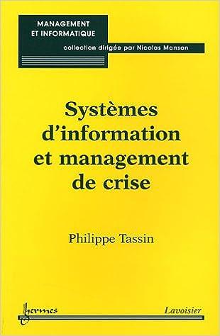 Téléchargement Systèmes d'information et management de crise pdf epub