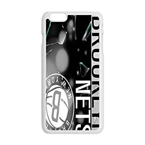 Brooklyn Nets NBA White Phone Case for iPhone plus 6 Case