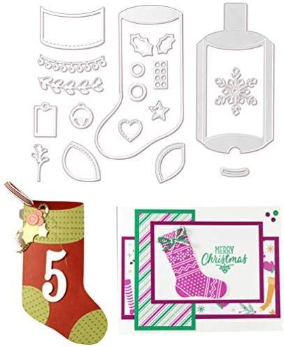 FunMove Navidad Copo de Nieve /álbum de Navidad calcet/ín coraz/ón Metal Troqueles Plantilla Scrapbooking Papel Foto Tarjeta Repujado Manualidades