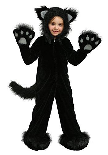Costumes Cat Whiskers (Premium Black Cat Kids Costume Medium)