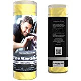 The Man Sham Chamois Cloth - Men's Gift - Ultimate Towel for Fast Drying of Your Car or Truck - Scratch and Lint Free Shine