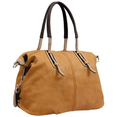 MG Collection Acacia Oversize Shopper Shoulder Bag, Caramel, One Size