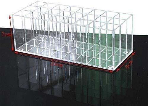 XWYSSH主催 化粧品ストレージボックス透明なアクリルアップ口紅の収納オーガナイザーボックスメイクブラシホルダ24ボックススロットリップスティック化粧品ボックスを作ります XWYSSH