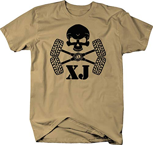 Skull Crossbones Tires & Axles Jeep Cherokee XJ Color Tshirt - ()