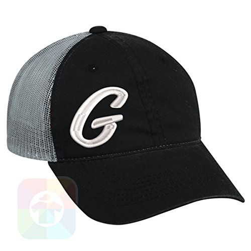 Custom Tshirts and Hats OutdoorCap Unstructured Velcro Baseball Mesh Dad Hat With G - Initials Design on it. #1836 by Custom Tshirts and Hats