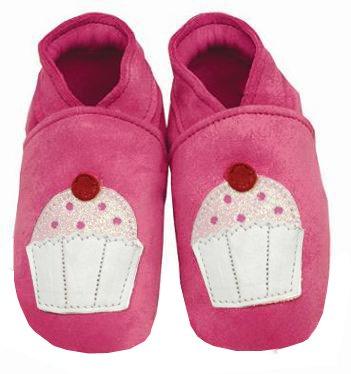 Daisy Roots Chaussures pour bébé en daim souple Cupcake en cuir (Taille 0à 6mois)