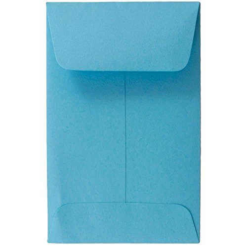 - JAM PAPER #1 Coin Business Colored Envelopes - 2 1/4 x 3 1/2 - Blue Recycled - 50/Pack