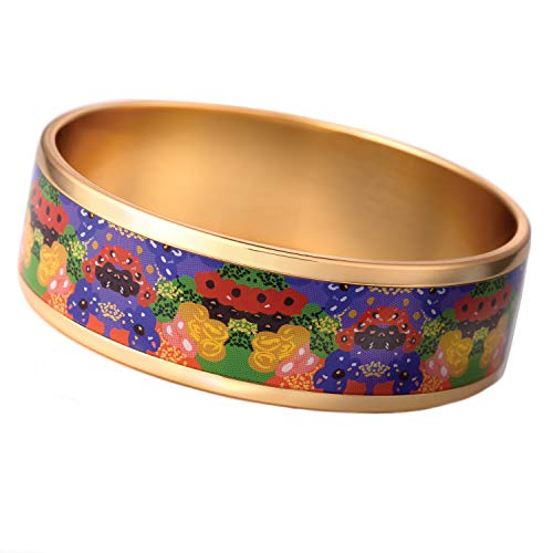 (Stauer Women's Gallery Bangle Needlepoint (Gold Finished))