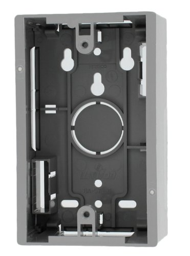 - Leviton 42777-1GA Surface Mount Backbox, Single Gang, Grey, 1.89