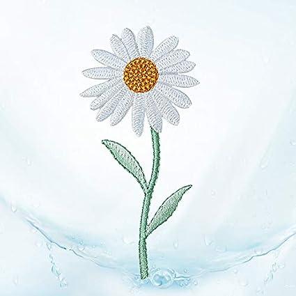 Cupcinu DIY Stoff Patch Patch Sunflower Blume Stickerei Reparatur bekleidungszubeh/ör dekorative Kleidung Rock kleine Daisy Flower Paste mit kleber Size 4.6 4.5cm Stil 1
