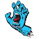 Santa Cruz Screaming Hand Skateboard Sticker in Blue - Jim Phillips Design 8cm NEW by Santa Cruz