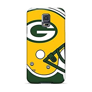 Anti-Scratch Hard Cell-phone Cases For Samsung Galaxy S5 With Customized Realistic Green Bay Packers Pattern JacquieWasylnuk