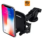 Phone Holder for Car Dashboard Windshield with Strong Suction Cup Telescopic Arm, Car Phone Mount, Car Phone Holder, Car Mount, Car Holder, Car Cell Phone Holder for Smartphones and JPS