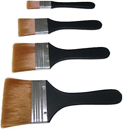 GuCra ナイロン刷毛 4本セット 毛幅 2cm 4cm 6cm 8cm