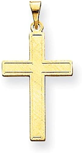 FB Jewels Solid 14K Yellow Gold Cross Pendant