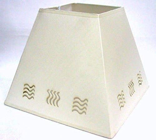 25,4 cm con onda en forma de lámpara de mesa pantalla para ...