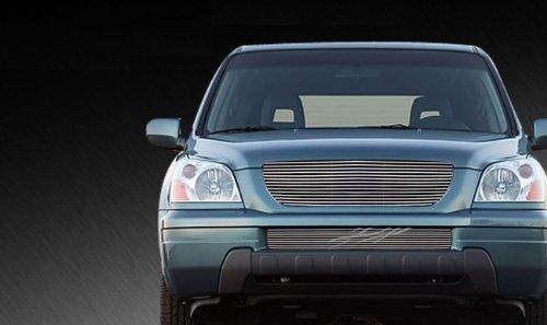 MaxMate Fits 03-05 Honda Pilot 2PC Combo Horizontal Billet Polished Aluminum Grille Grill Insert