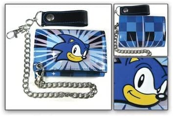 Wallet Sonic The Hedgehog W Chain Blue Black At Amazon Men S Clothing Store