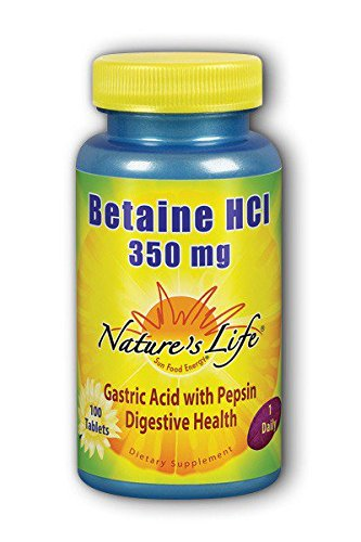 Betaine HCL 350mg Nature's Life 100 Tabs