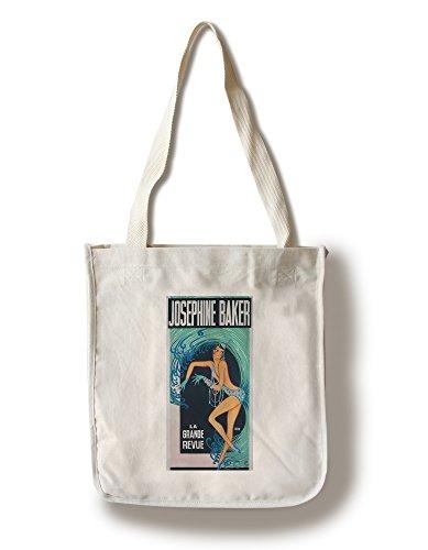 - Josephine Baker - La Grande Revue (Artist: Gaudin) France c. 1930 - Vintage Advertisement (100% Cotton Tote Bag - Reusable)